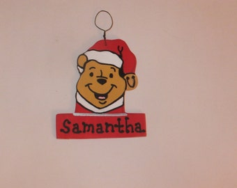 Winnie the Pooh Christmas Ornament - Personalized