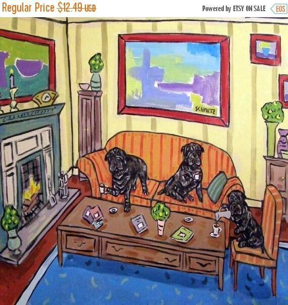 30 Off Shar Pei Tea Party Dog Art Tile Coaster