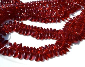 Christmas Red Mini Dagger Czech GLass Beads  100