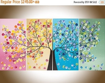 Colorful Abstract painting acrylic landscape Painting by qiqigallery