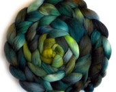 Polwarth Mohair Silk Combed Top Roving - Green Valley, 5.0 oz.