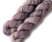 SALE Hand Dyed Yarn Sock Yarn Tight Twist Merino Cashmere Nylon Fingering - Dusty Rose, 400 yards