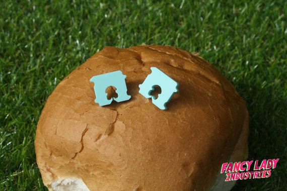 Bread Tag, Bread Clip, Acrylic Laser Cut Earrings for The Discerning Carb Lover