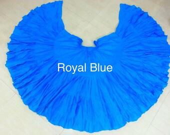 Royal Blue Cotton 32 yd Skirt ATS SCA BellyDance Best Quality