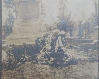 Antique graveside picture