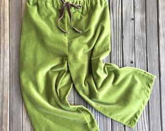 Girls Velveteen Pants, Green, Cotton, Velvet, Baby, Girl, Fashion, Boutique, Luxe, Spring, Girls, Velveteen, Pants