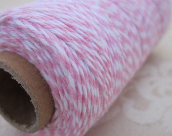 125m Pink and White Cotton Bakers Twine