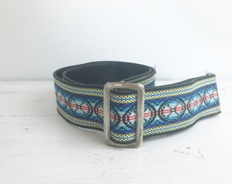 Vintage Woven Long Guitar, Camera Strap- Adjustable