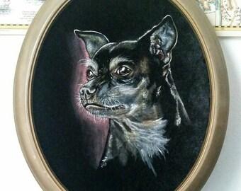 Custom Pet Portrait Velvet Painting Size Small