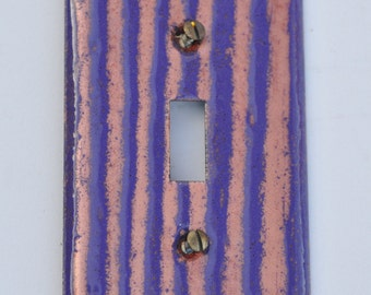 Free Shipping One of a Kind Stripe Enameled Light Switch Plate Cover