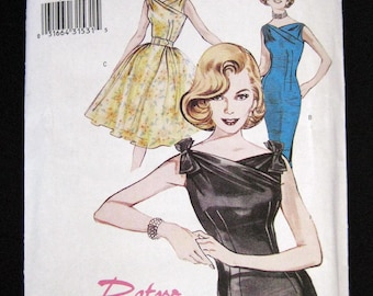 6582 Butterick Retro printed sewing pattern size 18 Retro Butterick 60s Misses dress and belt