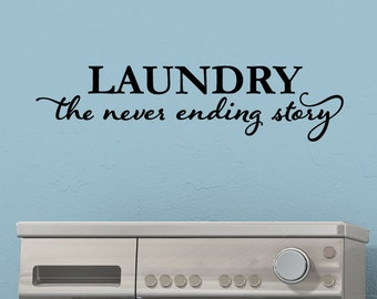 Wall Quotes Laundry the Never Ending Story Laundry Room Vinyl Decal