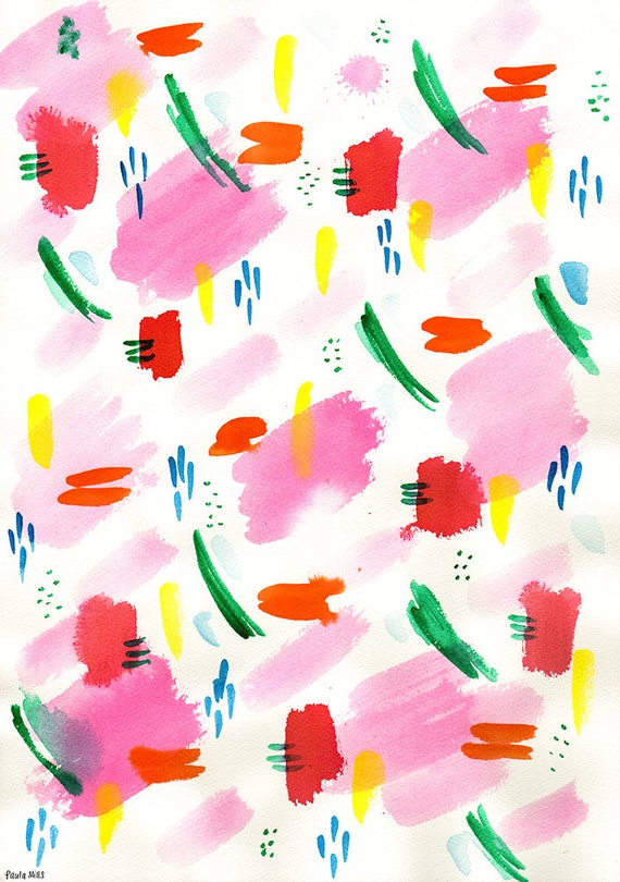 Water Colour Patterns No.2 Archival Art Print