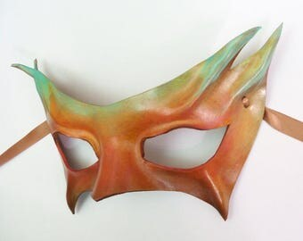 Little Leather Eye Mask Ocean Sunset Colors elegant sexy masquerade beautiful unusual colors