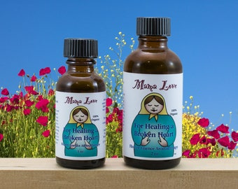 Grief Flower Essence Aromatherapy Oil for Healing a Broken Heart, Sadness, Organic, Reiki-Infused, Bach Flower