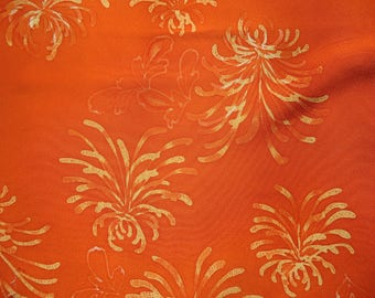 Kimono Silk Splashy Orange