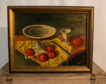 Original Acrylic Still Life Fruit Artwork  by Amkmpava