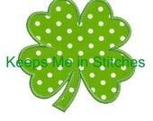 4 leaf clover embroidery applique design