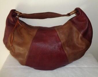 Almas USA thick rustic  rugged genuine leather ex large size  hobo, satchel shoulder bag, tote ,city bag, carryall hobo vintage