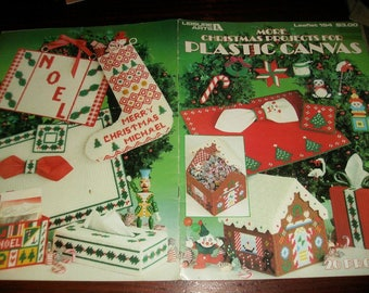 Christmas Plastic Canvas Patterns More Christmas Projects in Plastic Canvas Leisure Arts 194 Plastic Canvas Leaflet