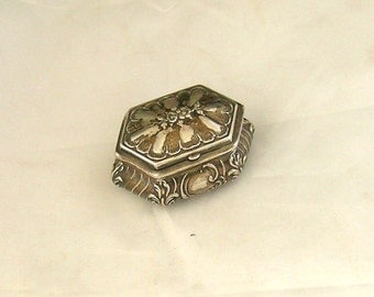 Sterling ANTIQUE EMBOSSED Small Jewel box