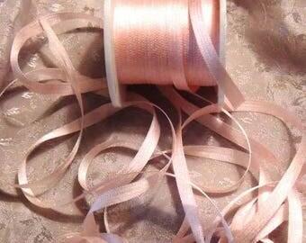2mm light pink ribbon silk ribbon   #564