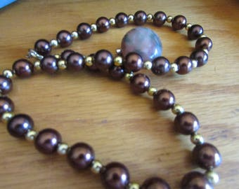 copper pearls with stone