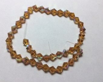 Glass Beads 8mm Amber