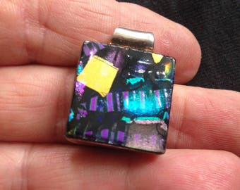 Dichroic and Sterling Silver Pendant / Necklace