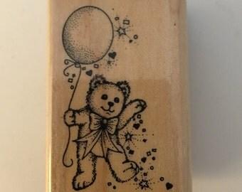 Hero Arts Wood Mounted Rubber Stamp. Confetti Bear.