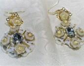 Russian Old World Wedding Earrings