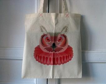 Urban bichos - dramatic owl tote bag