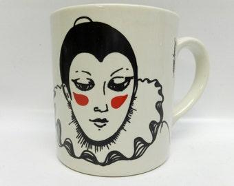 Vintage mug - pierrot clown