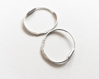 Hoop Earrings, Sterling Hoop Earrings, Silver Hoops, Modern Hoop Earrings, Minimalist Hoop Earrings, Organic Hoop Earrings