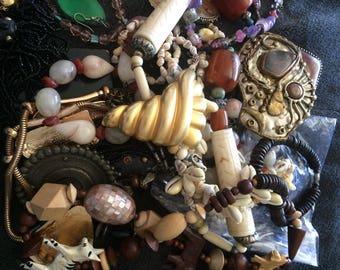 Bag of vintage junk jewelry #1