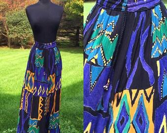 Vintage 70s Bohemian Hippie Cosmic Skirt One Size