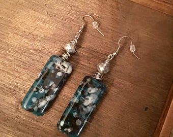 Dangle Rectangle Earrings