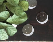 Moon Coasters // Translucent Star and Moon Coaster Set // Laser Cut Acrylic // Clear Round // Hostess Gift