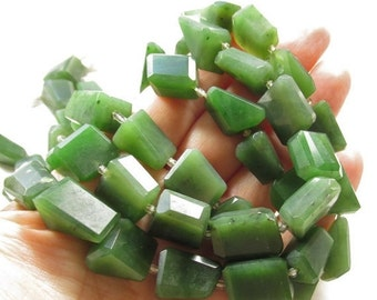 25% Off SALE Natural Translucent Green Jade Nugget Beads