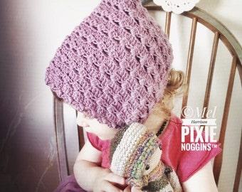 Crochet Maeve pixie bonnet pattern