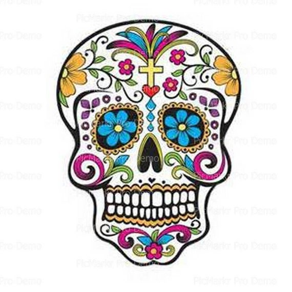 Halloween sugar skull day of the dead edible frosting for Day of the dead craft supplies