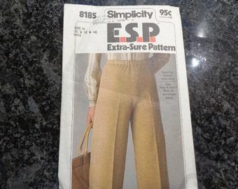 Vintage Simplicity 8185- misses' pull-on pants pattern
