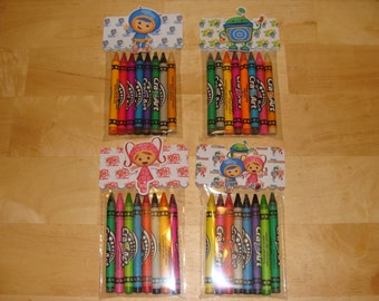 Team Umizoomi Made To Order Crayon Favor Bags