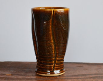 Tumbler, cup, tall glass, brown