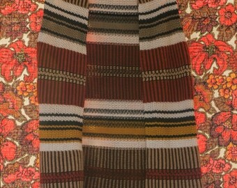 Vintage Vest - 70s Hippie Woven Tassles Fringe