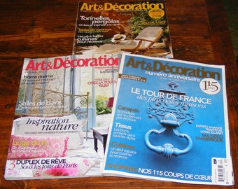 French Issues Art & Decoration April and October 2012 July 2009 Magazine Lot