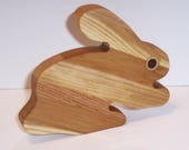 Mini Bunny Cutting Board Handcrafted from Mixed Hardwoods