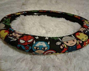NEW! Kawaii The Avengers * Steering Wheel Cover * Seat Belt *   Captain America * Iron Man * Thor * Hulk * Spiderman * Marvel Comics
