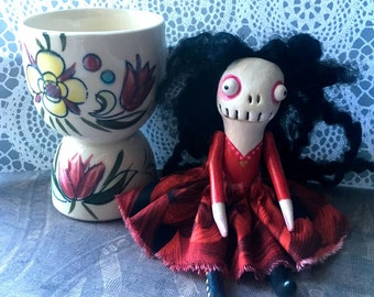 Holly - a small handmade art doll
