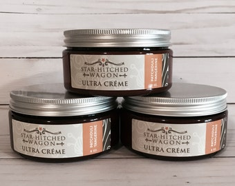 Handmade Natural Patchouli Tangerine Ultra Creme 8 Ounces loaded with Jojoba Oil